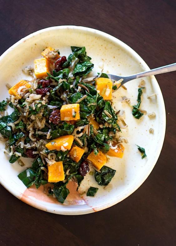 Detox Recipes: Wild Rice and Butternut Squash Salad