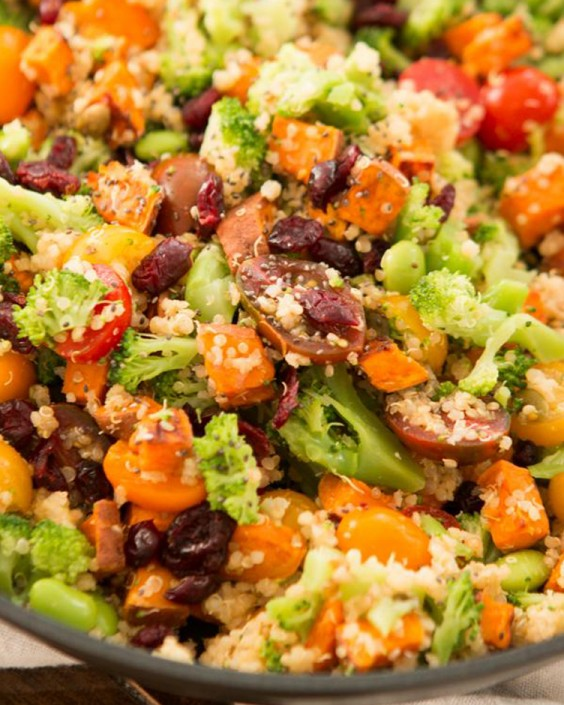 Heathy Dinner Recipes for Beginners: Vegetarian Quinoa Skillet by Oh, Sweet Basil