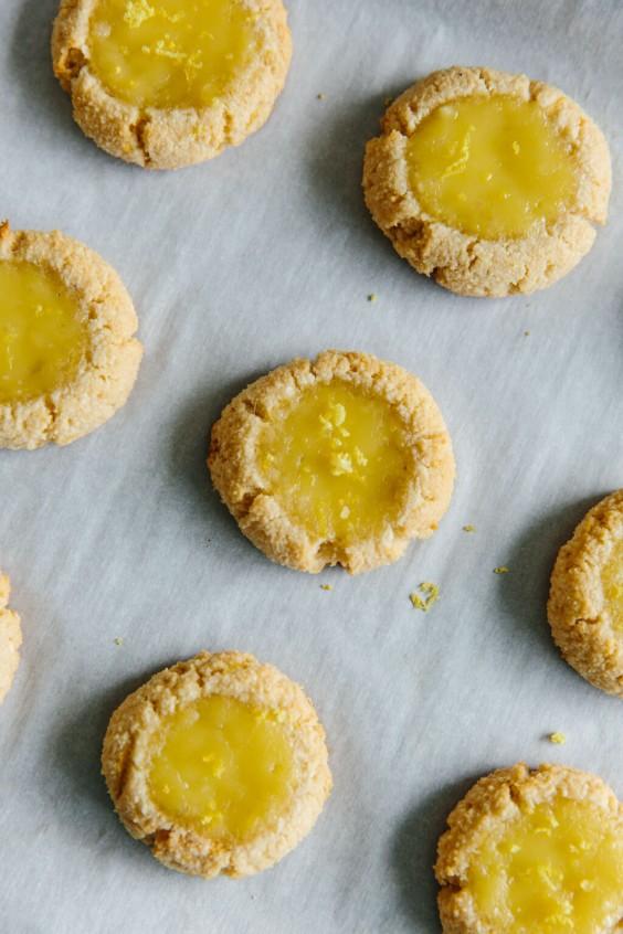 healthy lemon curd thumbprint cookies