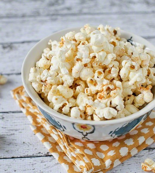24. Sweet and Spicy Wasabi Popcorn