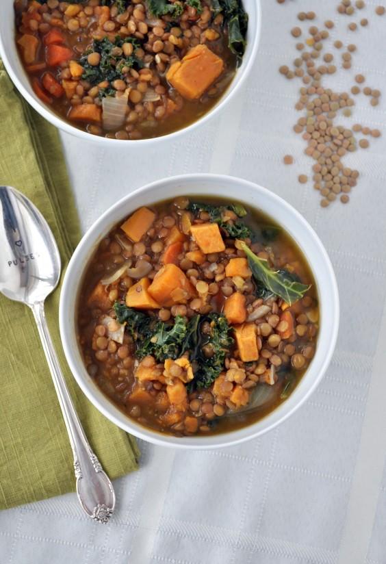 Detox Recipes: Lentil, Sweet Potato, and Kale Soup