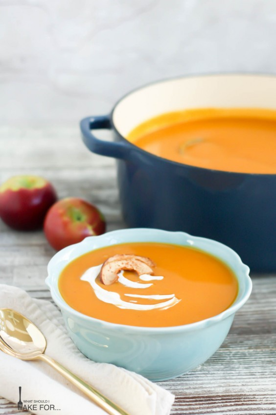 24. Roasted Butternut Squash and Apple Soup