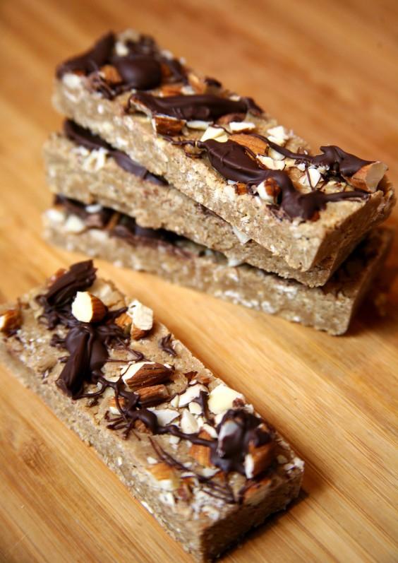 Vegan Chocolate Almond Protein Bars