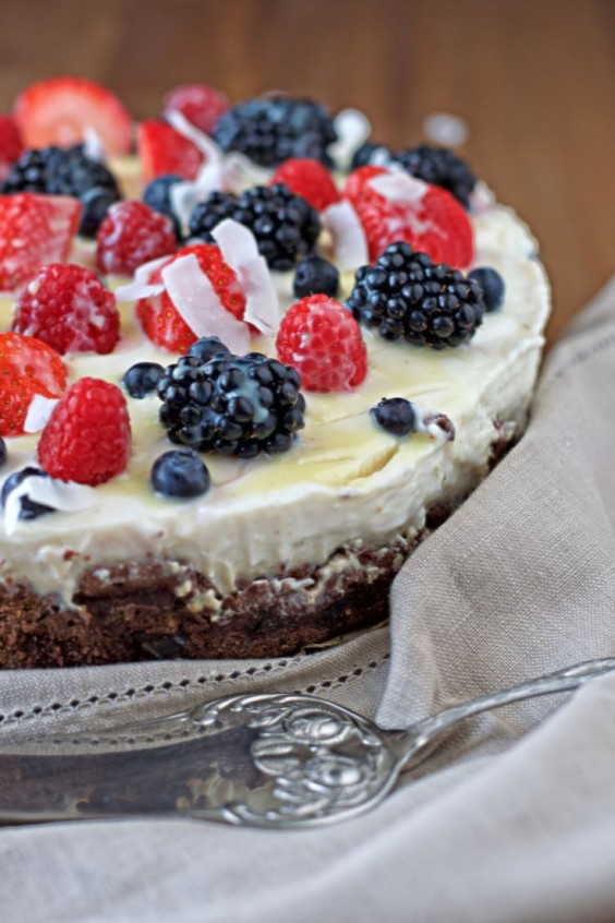 Berry and Coconut Cream Cake