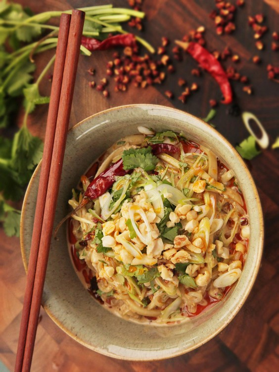 Sichuan Shirataki Sesame Noodle Salad