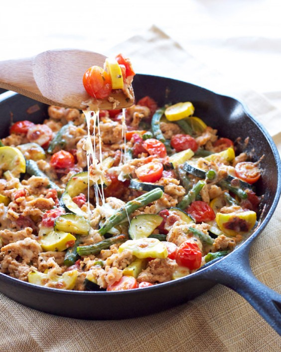 Healthy Dinner Recipes for Beginners: Turkey and Vegetable Skillet by Recipe Runner