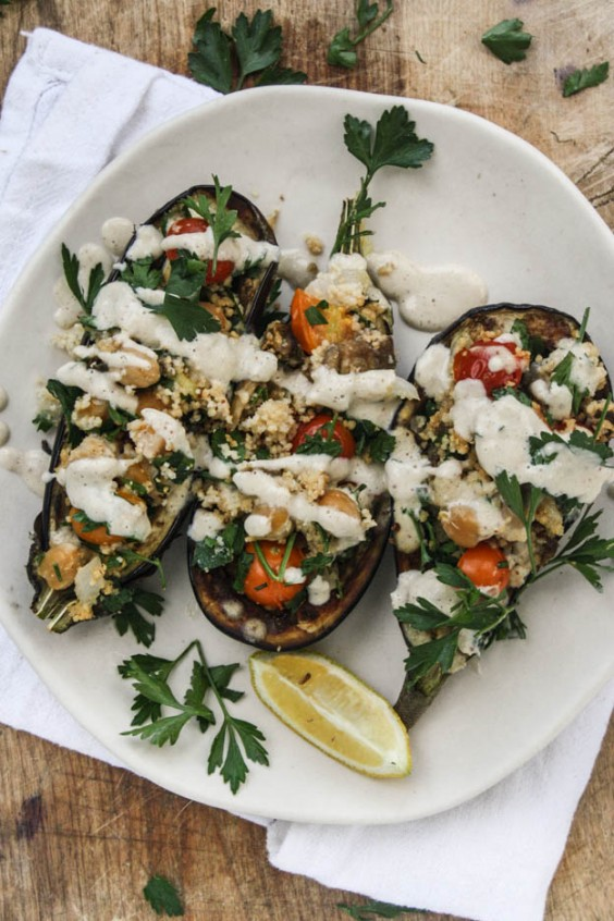 Detox Recipes: Chickpea Stuffed Eggplant