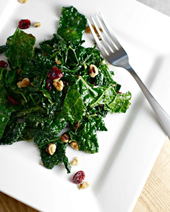 Healthy Dinner Recipes for Beginners: Winter Wilted Kale Salad by Begin With Nutrition