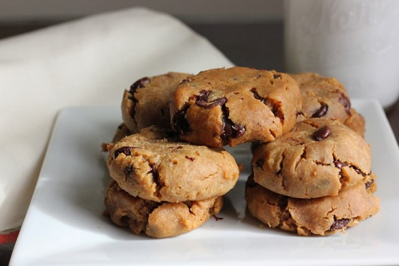 Peanut Butter and Chocolate Chickpea Cookies