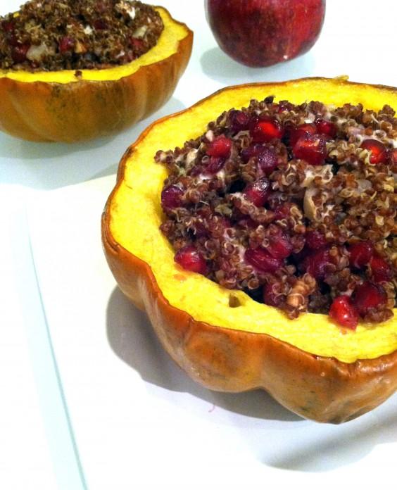 pomegranate quinoa squash