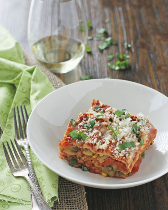 Summer Slow Cooker Lasagna With Zucchini and Eggplant
