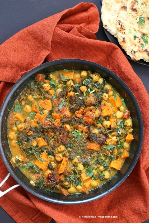 One Pot Meals: Chickpea Spinach Curry