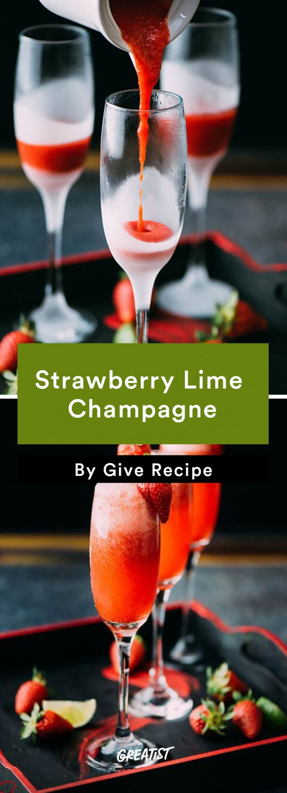Strawberry Lime Champagne Recipe
