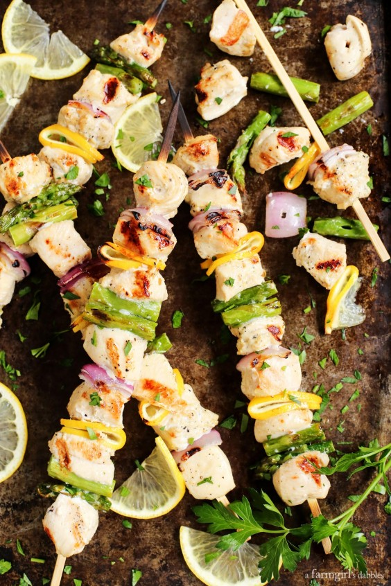 Grilled Lemon Pepper Chicken Kebabs