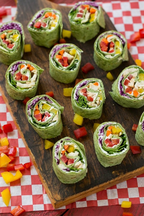 Picnic food ideas 21 recipes as healthy as they are tasty greatist picnic chicken and veg pinwheel forumfinder Images