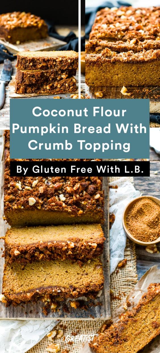 gluten free thanksgiving: Coconut Flour Pumpkin Bread