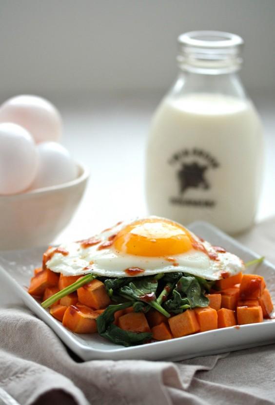 Sweet Potato Spinach Breakfast Hash