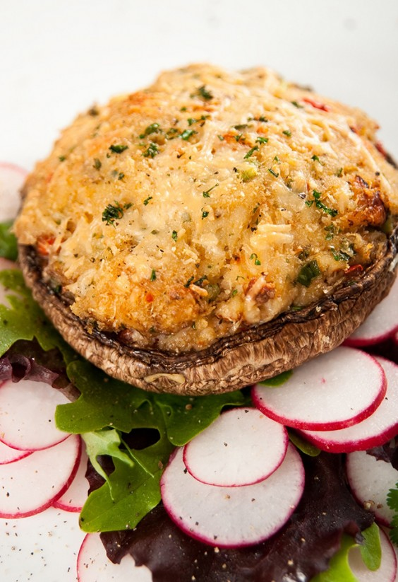 Main Course Vegetarian Dishes Part - 23: Stuffed Mushrooms