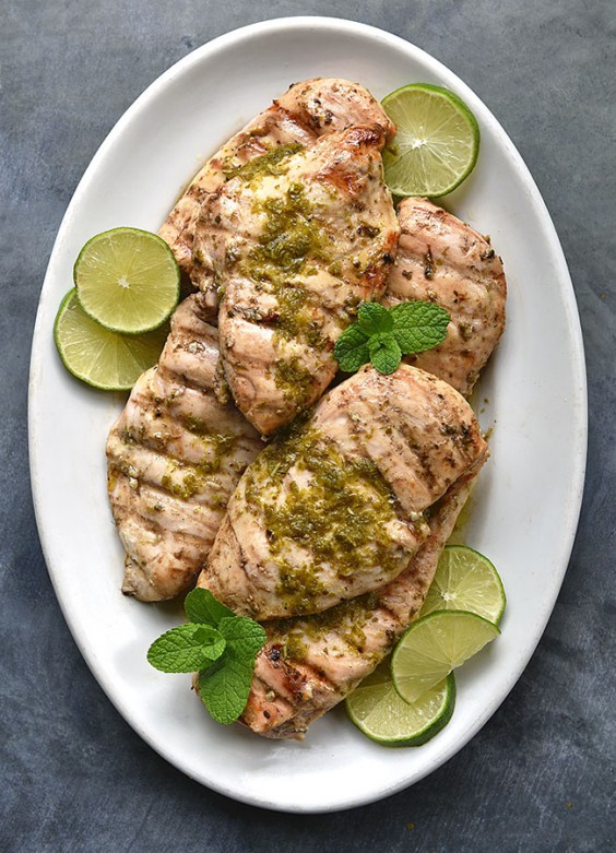 mint lime grilled chicken