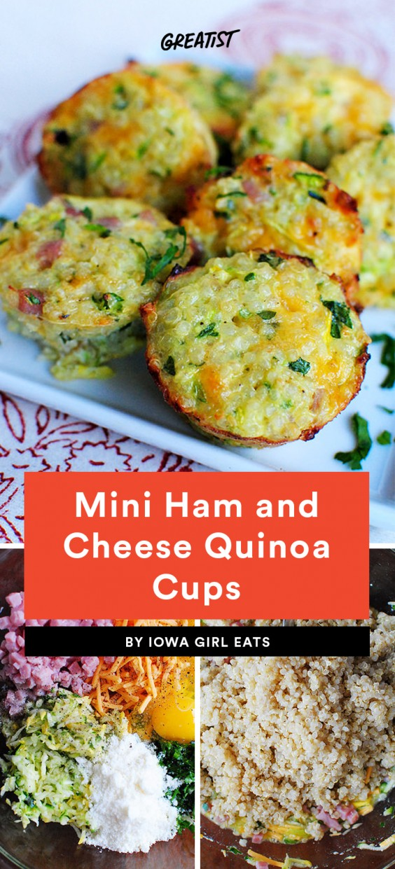 Mini Ham and Cheese Quinoa Cups