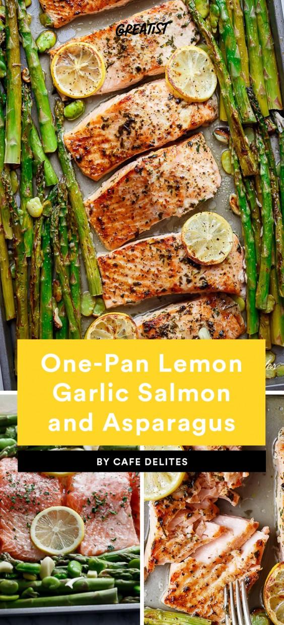 One-Pan Lemon Garlic Salmon and Asparagus