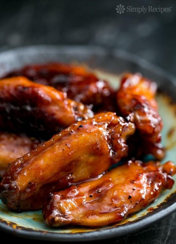 Bourbon Maple Galzed Chicken Wings