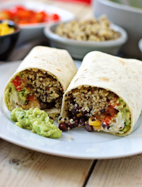 Lunch Ideas Mexican Quinoa Wraps Photo Contentedness Cooking