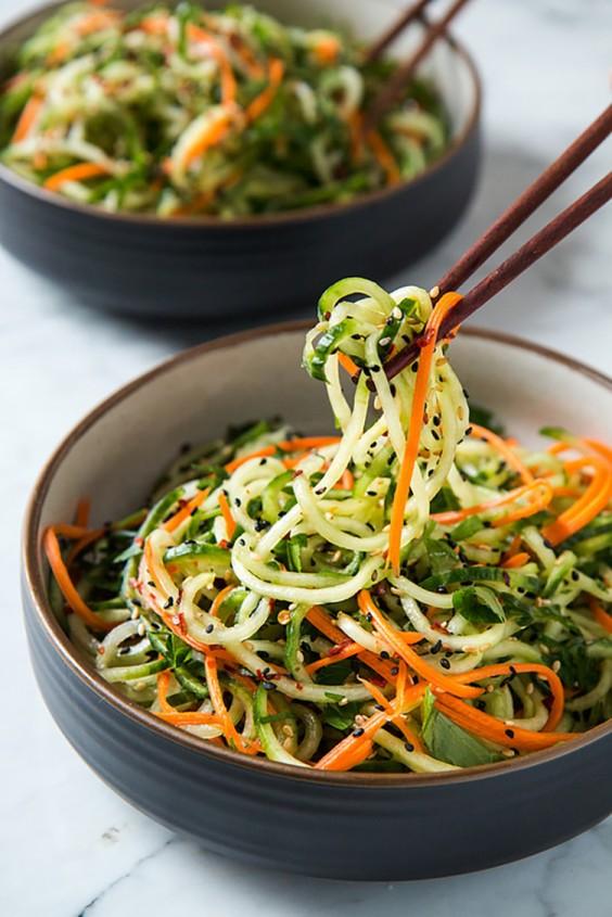 Asian Salad Recipes: Asian Sesame Cucumber Salad
