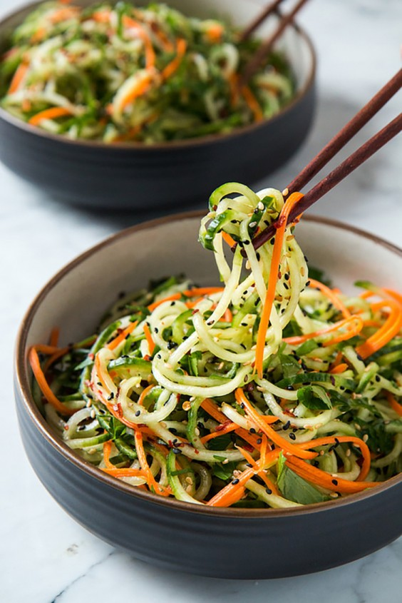 Asian Salad Recipes: Asian Sesame Cucumber Salad