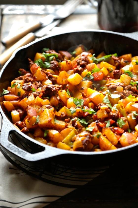 Healthy Breakfast Recipes: Cowboy Skillet Hash