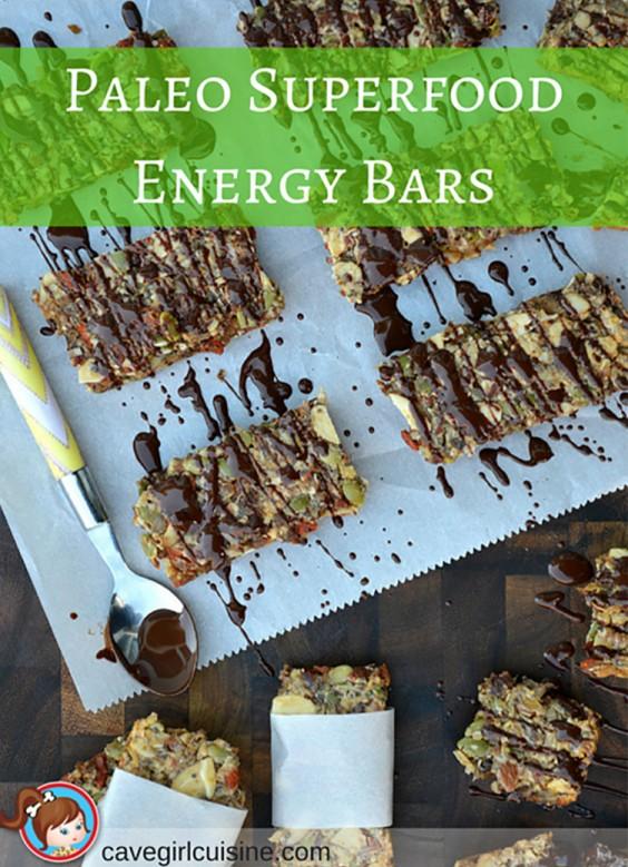 Paleo Recipes: Paleo Superfood Energy Bars by Cavegirl Cuisine