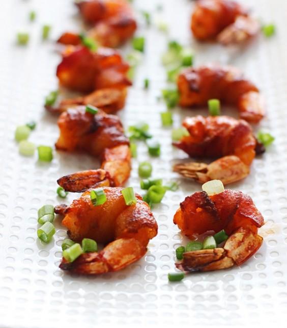 bacon wrapped buffalo shrimp