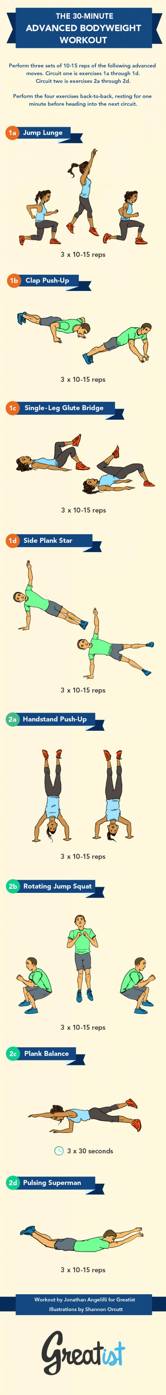 30-Minute Advanced Bodyweight Workout