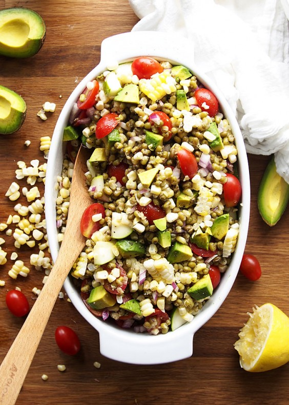 One Pot Meals: Summer Veggie Mung Bean Salad