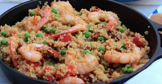 Quinoa Shrimp Paella
