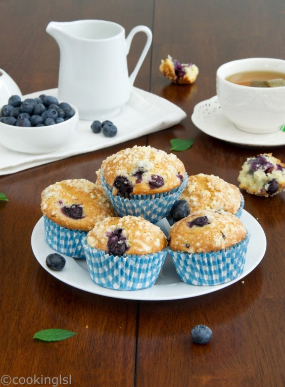 30. Blueberry Muffins With Olive Oil, Yogurt, And Streusel Topping