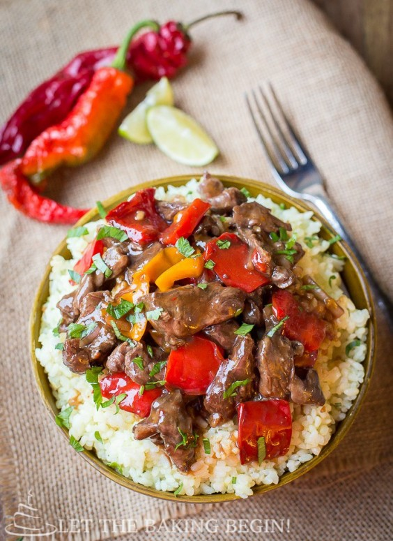 31. Spicy Beef and Bell Peppers