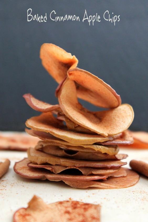 31. Baked Cinnamon Apple Chips