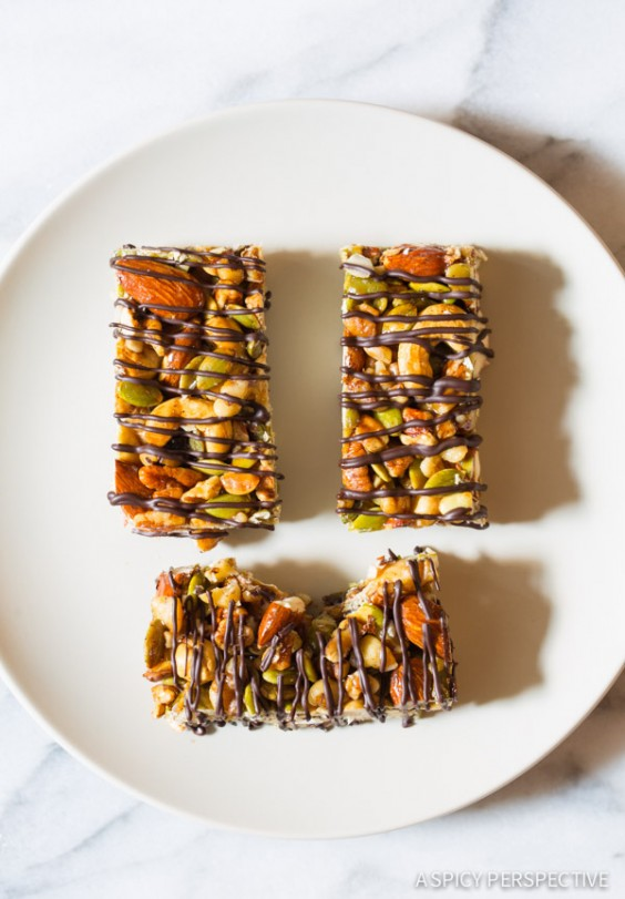 Paleo Nut Bar with Chocolate Drizzle