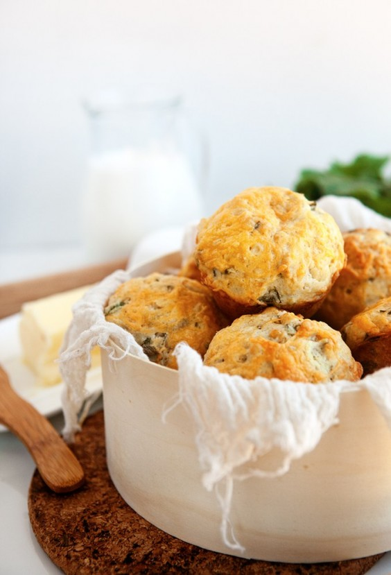 33. Savory Cheese Muffins