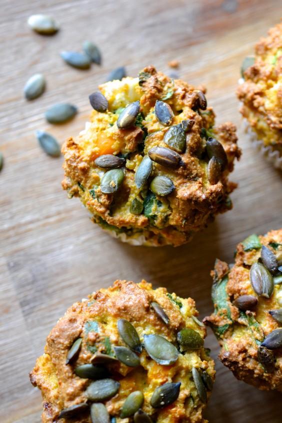 34. Butternnut Squash, Spinach, & Feta Muffins