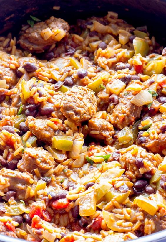 One Pot Meals: Spanish Rice and Chorizo