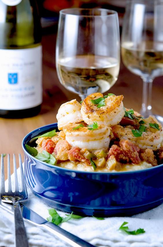 Cajun seasonings and tomatoes spice up shrimp.