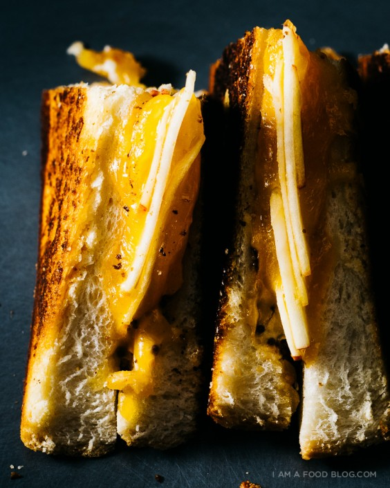 35. Apple Cheddar Grilled Cheese