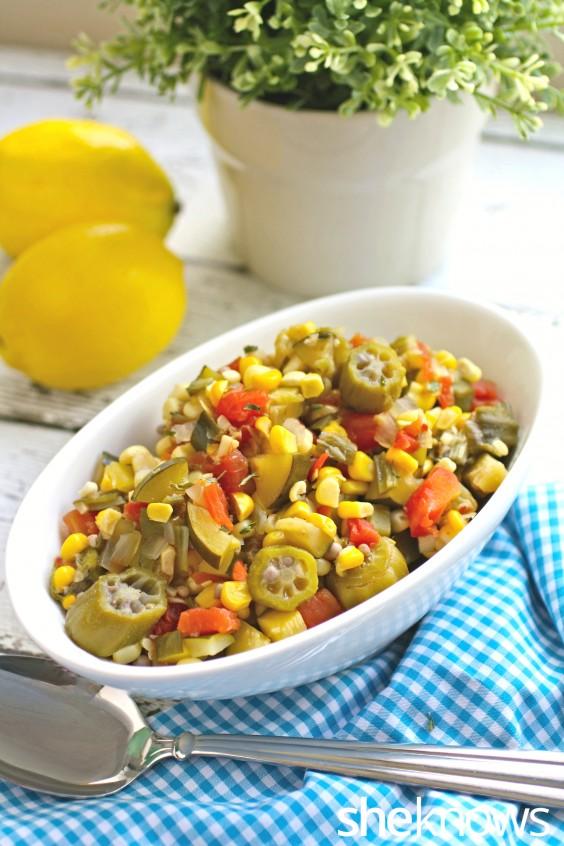 slow cooker vegetable succotash