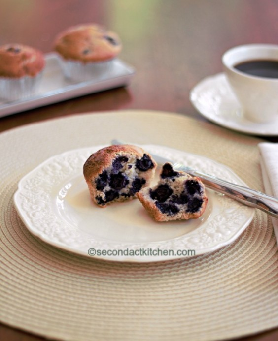 3. Gluten-Free, Low-Fat Blueberry Muffins
