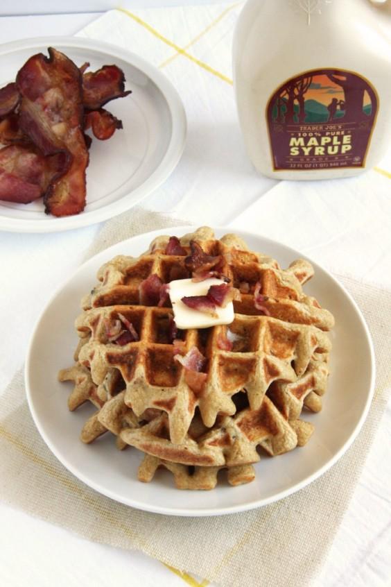 3. Maple Bacon Waffles