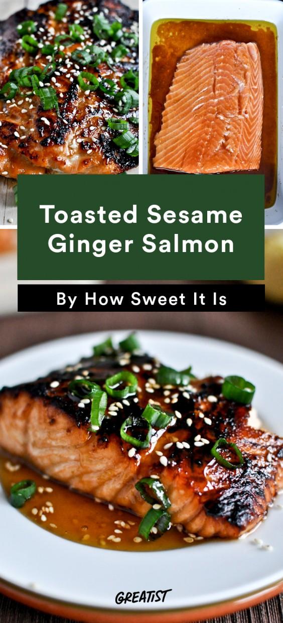 Toasted Sesame Ginger Salmon