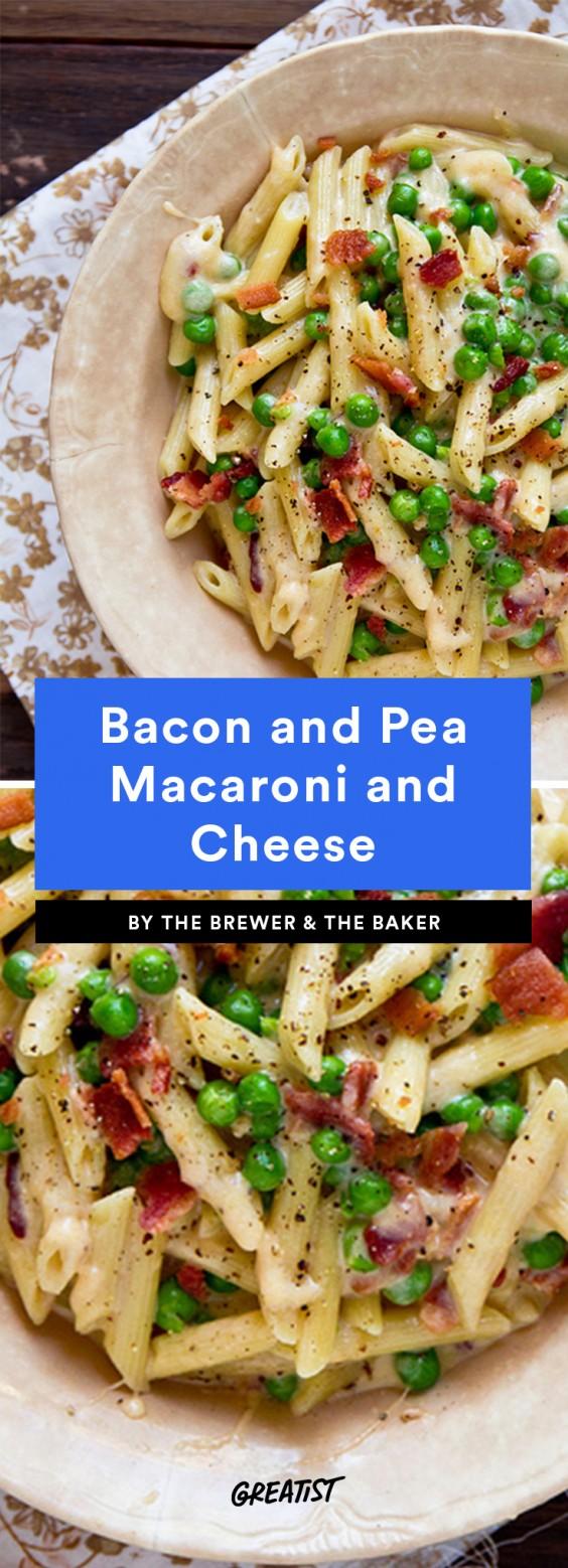 Bacon and Pea Macaroni and Cheese