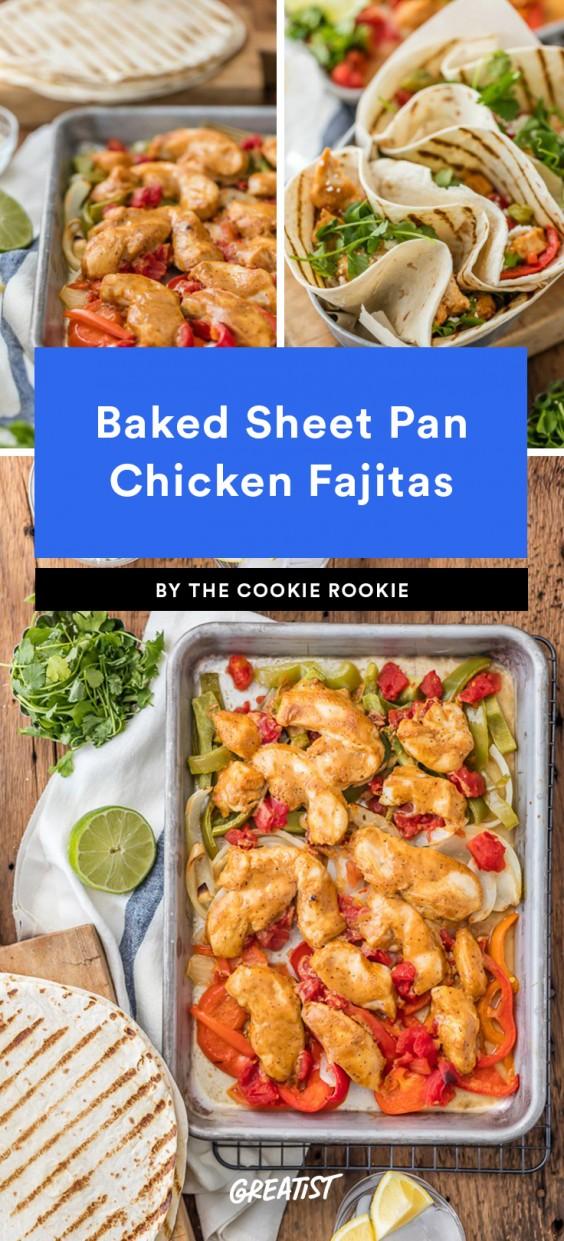 Baked Sheet Pan Chicken Fajitas